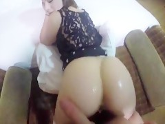 A Girl With fucking moster Ass Doggystyle POV And Cumshot