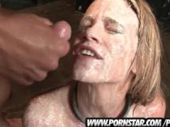 Hot Blonde Aiden Aspen Is Bound And Gets Facials