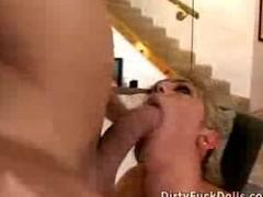 Father And friend Pigroast Their Busty Blonde Maid