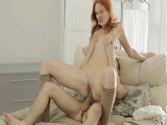 Redhead fucked ass-to-mouth